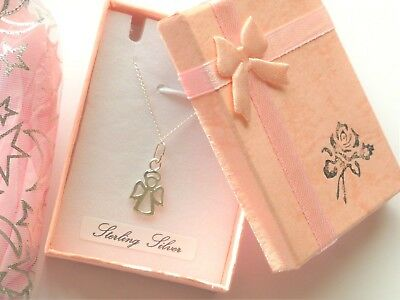 Babies Little Angel sterling silver girls necklace Christening Birth day xmas