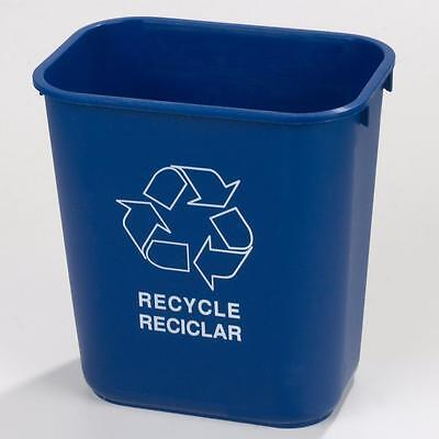 Carlisle 342928REC14 Office Recycle Wastebasket 28 qt Blue Case of 12