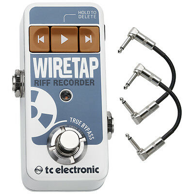 TC Electronic WireTap Riff Recorder Bluetooth Effects Pedal w/ Patch Cables