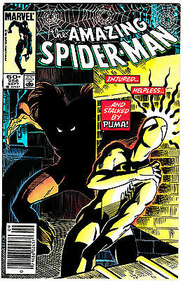 AMAZING SPIDER-MAN #256 VF/NM 1st Appearance of PUMA! BLACK-CAT Appearance! 1984