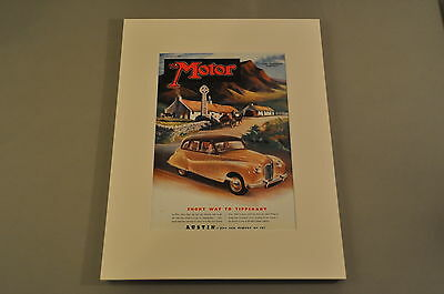 VINTAGE THE MOTOR Magazine Front Cover (Matted) 1/4/1950- Austin A70
