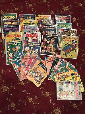 Lot Of 50 Gold Key Dell Whitman Disney Comics Four Color Mickey Scrooge