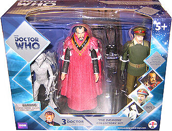 """Doctor Who 5"""" The Daemons Action Figure Set, Brigadier, Master"""