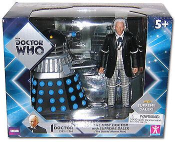 """Doctor Who 5"""" 1st Dr and Supreme Dalek Action Figure Set, New!"""