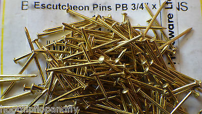 "25g 3/4"" 19mm SOLID BRASS THIN ESCUTCHEON PINS DOLL HOUSE ART DECORATIVE FABRIC"