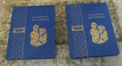 PRESIDENTIAL ARTS 50 STATEHOOD ART MEDALS Vol 1 & 2 signed by Ralph Menconi