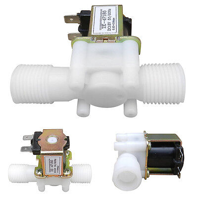 """DC 12V 1/2"""" Electric Solenoid Valve Magnetic N/C Water Air Inlet Flow Switch"""