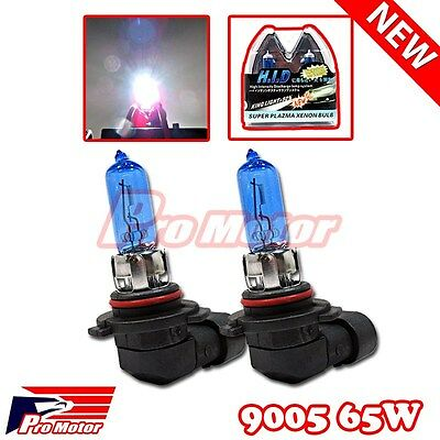 2X 9005 Halogen 12V 65w White 5K Headlight Gas Xenon Light Bulb High Beam DRL P2
