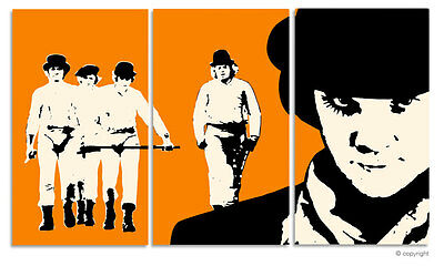 CLOCKWORK ORANGE STANLEY KUBRICK POP ART BILD PAINTING HANDGEMALT (no DVD/CD)