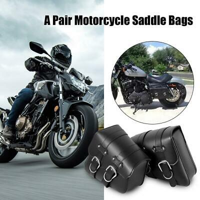 2pcs PU Leather Motorcycle Tool Saddle Bag For Harley Sportster XL883 XL1200