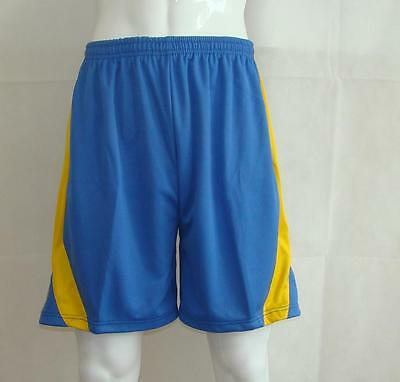 Basketball Shorts / By Starting 5 - blue/yellow (Box 203) FREE P & P