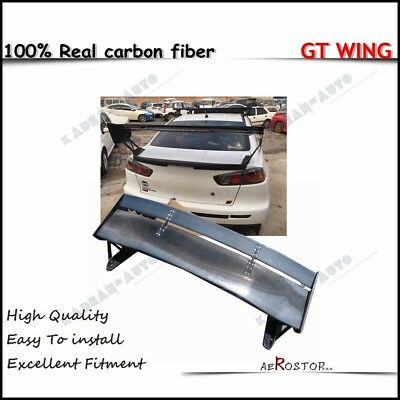 Carbon Voltex Type-5V Style Gt Wing Rear Spoiler 1400Mm For Mitsubishi Evo 10 X