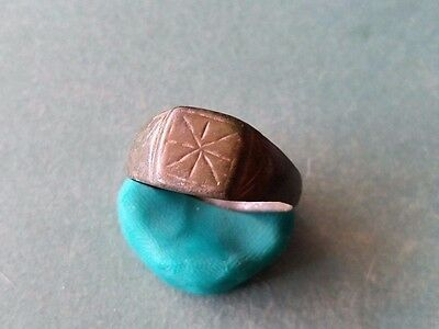 Perfect Roman Artifact - Bronze Engraved Ring