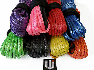 30.5m 10mm Corde Synthétique Treuil & Hook, Dyneema SK75! auto recouvrante 4x4