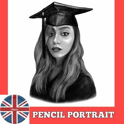 Painted portrait from photo as personalised birthday present, original drawing