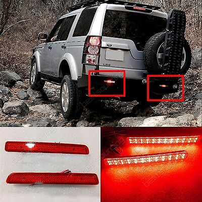 A Pair Land Rover LED Rear Bumper Brake Stop Fog Red Light Discovery 3 4 LR3 LR4