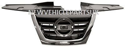 Nissan Juke 2010-2014 Front Main Grille Black With Chrome Moulding High Quality