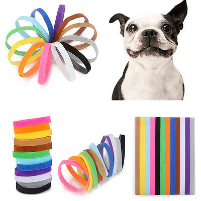 12 Color Dog Whelp Whelping Puppy & Kitten ID Collars Bands for Pets Breeders