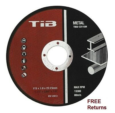 """Metal Cutting Disc 115mm Ultra thin 1mm Angle Grinder 4.5"""" Stainless Steel"""