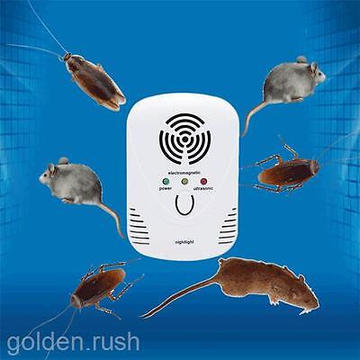 Ultrasonic Pest Repeller Plug In Night Light Rodent Mouse Mice Rat Spider Insect