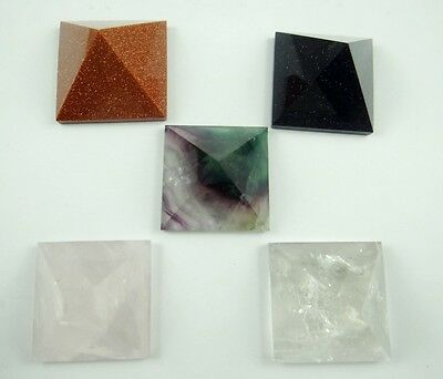 AGATE Crystal Healing Pyramid Point Reiki Super Colorful Brazil