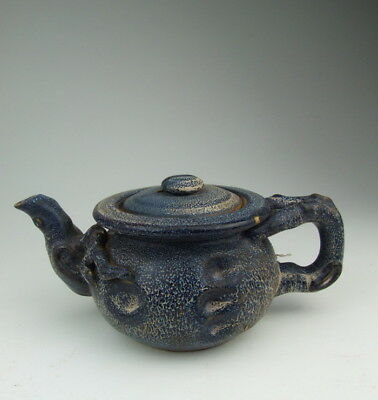 One Nice Chinese Antique Robin's-egg Glaze Porcelain Wine Pot