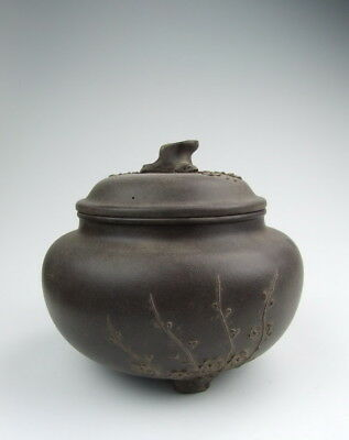 Later Chinese Antique YiXing Ware ZiSha Pottery Lidded Pot