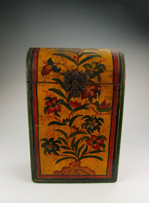 One Tibetan Wooden Casket Painted with traditional tibetan motif