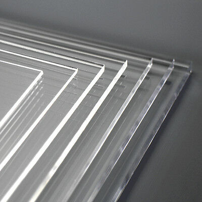 Clear Acrylic Perspex Sheet Laser Cut and Polished A6 A5 A4 A3