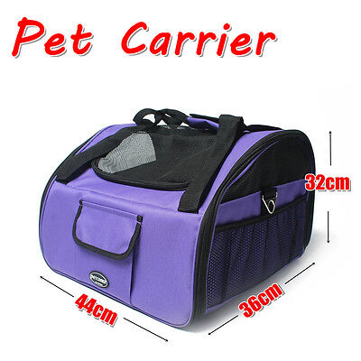 New Pet Puppy Dog Cat Car Seat Travel Carrier Soft Crate Booster Portable Purple