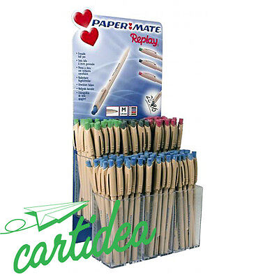 Penna Cancellabile Papermate Replay Blu