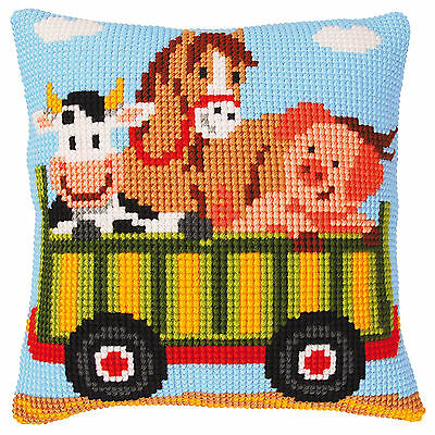 White Horse Cross Stitch Cushion Kit Vervaco backing optional PN-0144434