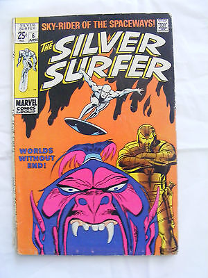 SILVER SURFER #6 - JUN 1969 - OVERLORD 1st APPEARANCE! - CENTS COPY