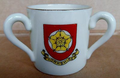 Scarborough Yorkshire Loving Cup Henry Of Navarre Crested China (C1)
