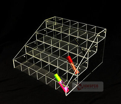 """16"""" Wide Acrylic 4 Tier (24-Compartments) Countertop Display Rack (1134-6) - NEW"""