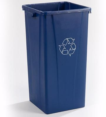 Carlisle 343523REC14 Centurian Square Recycle Container 23 Gallon Blue Case of 4
