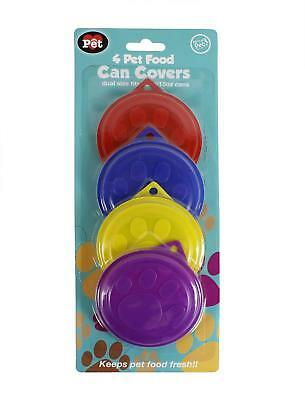1 Pack Of 4 Pet Food Tin Can Covers