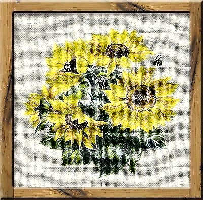 """RIOLIS Counted Cross Stitch Kit 9.75/""""X19.75/""""-Sunflowers 10 Count"""