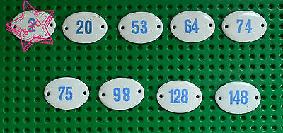 Enamel Numbers from House, Number Room, Number Hotel, Bath, SPA 2, 20, 53, 64