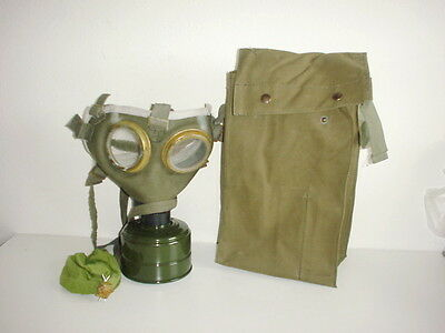 Austrian army WW1 style Hungarian gas mask unissued large size X-large