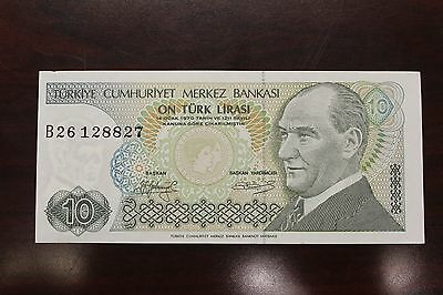 1979 Turkey 10 Lira on Turk Mirasi 1970 Banknote unc