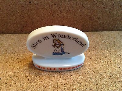 WADE COLLECTORS CLUB ALICE IN WONDERLAND SERIES Plaque