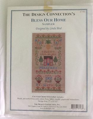 The Design Connection Counted Cross Stitch Bless Our Home Sampler Linda Bird