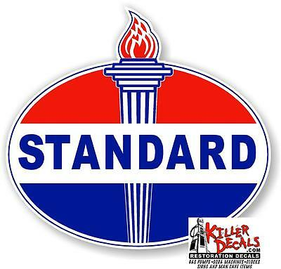 "18"" EARLY style STANDARD TORCH GAS PUMP OIL TANK DECAL"