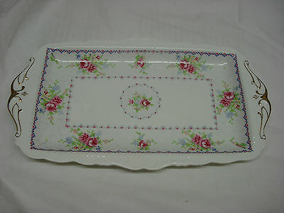 Royal Albert PETIT POINT Large SANDWICH TRAY Round Center made in ENGLAND PP