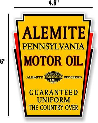 "6"" Alemite Motor Oil Gas Pump Tank Decal Lubester Decal Sticker"