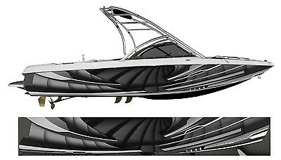 Crysis Spiral Boat Wrap - Customized for your boat