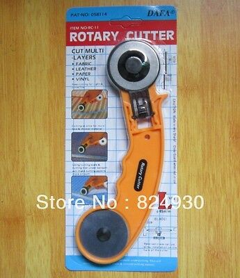 DAFA Brand 45mm rotary cutter blades with handle for fabric leather paper vinyl