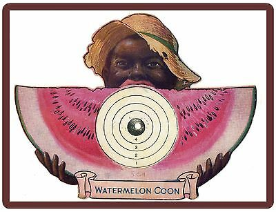 1918 Watermelon Coon Black Americana Ad NEW! Refrigerator Magnet