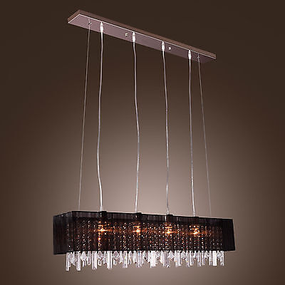Dinning Restaurant Crystal Ceiling Pendant Lamp Chandelier Light Lighting CA